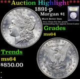 ***Auction Highlight*** 1891-p Morgan Dollar $1 Graded Choice Unc By USCG (fc)