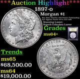 ***Auction Highlight*** 1897-o Morgan Dollar $1 Graded Choice+ Unc By USCG (fc)