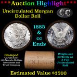 ***Auction Highlight*** 1885 & CC Uncirculated Morgan Dollar Shotgun Roll DMPL reverse (fc)
