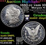 ***Auction Highlight*** 1880-cc vam 10 Morgan Dollar $1 Graded Choice Unc+ DMPL By USCG (fc)