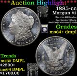 ***Auction Highlight*** 1885-cc Morgan Dollar $1 Graded Choice Unc+ DMPL By USCG (fc)