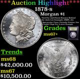 ***Auction Highlight*** 1878-s Morgan Dollar $1 Graded Gem++ Unc By USCG (fc)
