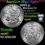 ***Auction Highlight*** 1885-p Morgan Dollar $1 Graded GEM++ Unc By USCG (fc)