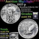 ***Auction Highlight*** 1927-p Standing Liberty Quarter 25c Graded GEM FH By USCG (fc)
