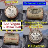 ***Auction Highlight*** Old Casino 50c Roll $10 In Halves Stardust Hotel Las Vegas 1919 & 'P' Barber