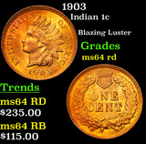 1903 Indian Cent 1c Grades Choice Unc RD