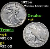 1921-s Walking Liberty Half Dollar 50c Grades vg, very good