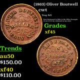 (1863) Oliver Boutwell Civil War Token 1c Grades xf+
