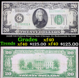 1928B $20 Federal Reserve Note (Chicago, IL) Redeemable In Gold Grades xf