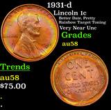 1931-d Lincoln Cent 1c Grades Choice AU/BU Slider