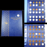Partial Flying Eagle & Indian Cent Book 1857-1909 36 coins