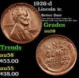 1926-d Lincoln Cent 1c Grades Choice AU/BU Slider