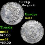 1900-p Morgan Dollar $1 Grades Select Unc