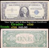 *Star Note* 1957 $1 Blue Seal Silver Certificate Grades vf, very fine