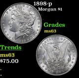 1898-p Morgan Dollar $1 Grades Select Unc