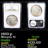 NGC 1903-p Morgan Dollar $1 Graded ms63 By NGC