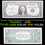 *Star Note * 1957A $1 Blue Seal Silver Certificate Low Serial Number Grades xf+