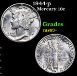1944-p Mercury Dime 10c Grades Select+ Unc