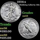 1934-s Walking Liberty Half Dollar 50c Grades Select AU