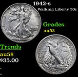 1942-s Walking Liberty Half Dollar 50c Grades Select AU
