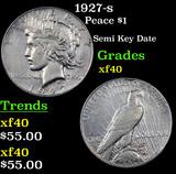 1927-s Peace Dollar $1 Grades xf