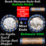 Buffalo Nickel Shotgun Roll in Old Bank Style 'Los Angeles Trust And Savins Bank'  Wrapper 1924 & s