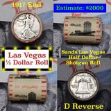 ***Auction Highlight*** Old Casino 50c Roll $10 In Halves Sands Hotel Las Vegas 1917 Walker & 'D' Fr
