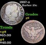 1897-o Barber Quarter 25c Grades g+