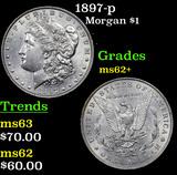 1897-p Morgan Dollar $1 Grades Select Unc
