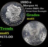 1880-s Morgan Dollar $1 Grades GEM Unc