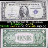1935c $1 Blue Seal Silver Certificate Grades Select CU