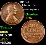 1915-s Lincoln Cent 1c Grades xf+