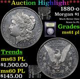 ***Auction Highlight*** 1880-o Morgan Dollar $1 Graded Unc+ PL By USCG (fc)