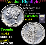 ***Auction Highlight*** 1924-s Mercury Dime 10c Graded Select Unc By USCG (fc)