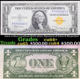 1935A $1 Silver Certificate North Africa, Signatures of Julian & Morgenthau Grades Choice CU+