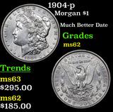 1904-p Morgan Dollar $1 Grades Select Unc