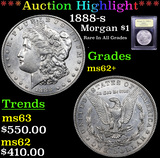 ***Auction Highlight*** 1888-s Morgan Dollar $1 Graded Select Unc By USCG (fc)