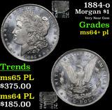 1884-o Morgan Dollar $1 Grades Choice Unc+ PL