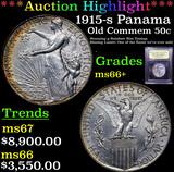 ***Auction Highlight*** 1915-s Panama Pacific Old Commem Half Dollar 50c Graded GEM++ Unc By USCG (f
