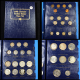 Complete 20th Century United States Type Set book (Pennys, Nickels, Dime, Quarters,Halves, Dollars)