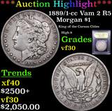 ***Auction Highlight*** 1889/1-cc Vam 2 R5 Morgan Dollar $1 Graded vf++ By USCG (fc)
