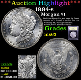 *Highlight Of Entire Auction* 1884-s Morgan Dollar $1 Graded Select Unc By USCG (fc)