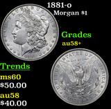 1881-o Morgan Dollar $1 Grades Choice AU/BU Slider+