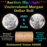 ***Auction Highlight*** 1883 & S Uncirculated Morgan Dollar Shotgun Roll (fc)