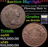 ***Auction Highlight*** 1796 Liberty Cap Rev '94 S-106 R5 Flowing Hair large cent 1c Graded AU Detai