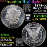 ***Auction Highlight*** 1878-cc Morgan Dollar $1 Graded GEM Unc DMPL By USCG (fc)