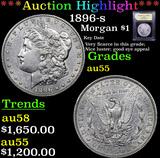 ***Auction Highlight*** 1896-s Morgan Dollar $1 Graded Choice AU By USCG (fc)