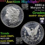 ***Auction Highlight*** 1881-s Morgan Dollar $1 Graded Choice Unc+ DMPL By USCG (fc)
