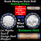 Buffalo Nickel Shotgun Roll in Old Bank Style 'Los Angeles Trust And Savins Bank'  Wrapper 1916 & d