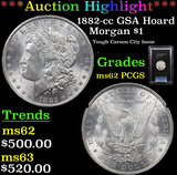 ***Auction Highlight*** PCGS 1882-cc GSA Hoard Morgan Dollar $1 Graded ms62 By PCGS (fc)
